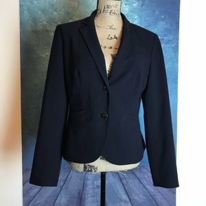 CALVIN KLEIN Black Career Blazer Jacket Size 10